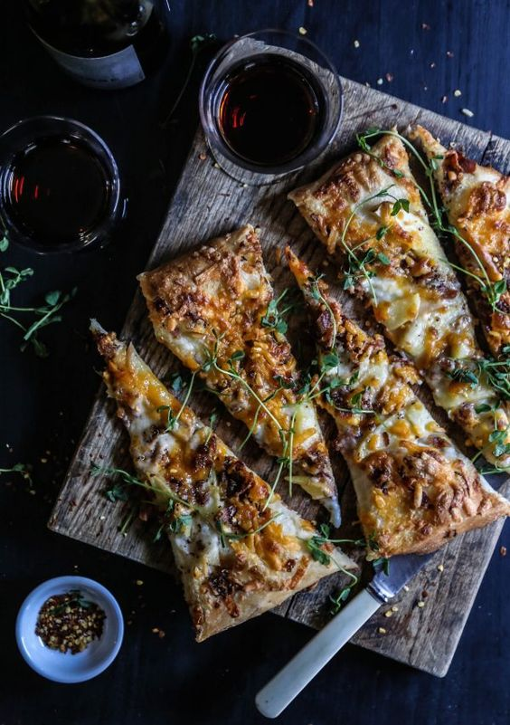 Apple Cheddar Rosemary Bacon Pizza from climbinggrierfmountain.com on ...