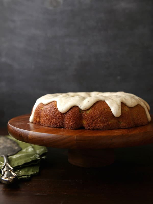 Spiced Zucchini Pear Cake with Brown Butter Glaze from Completely ...