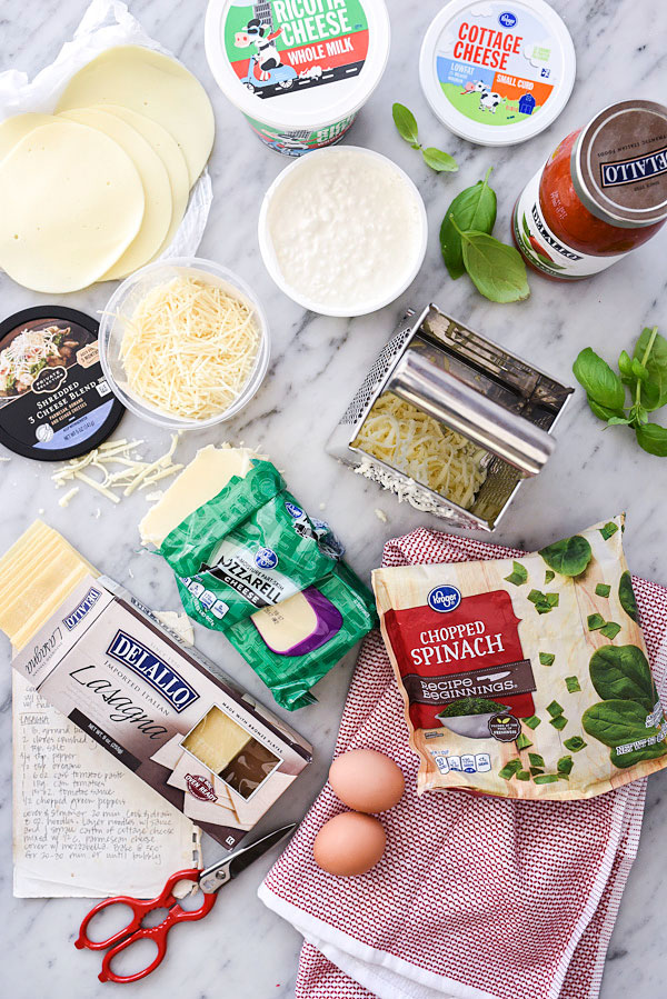 The Cheesiest Spinach and Cheese Lasagna | foodiecrush.com