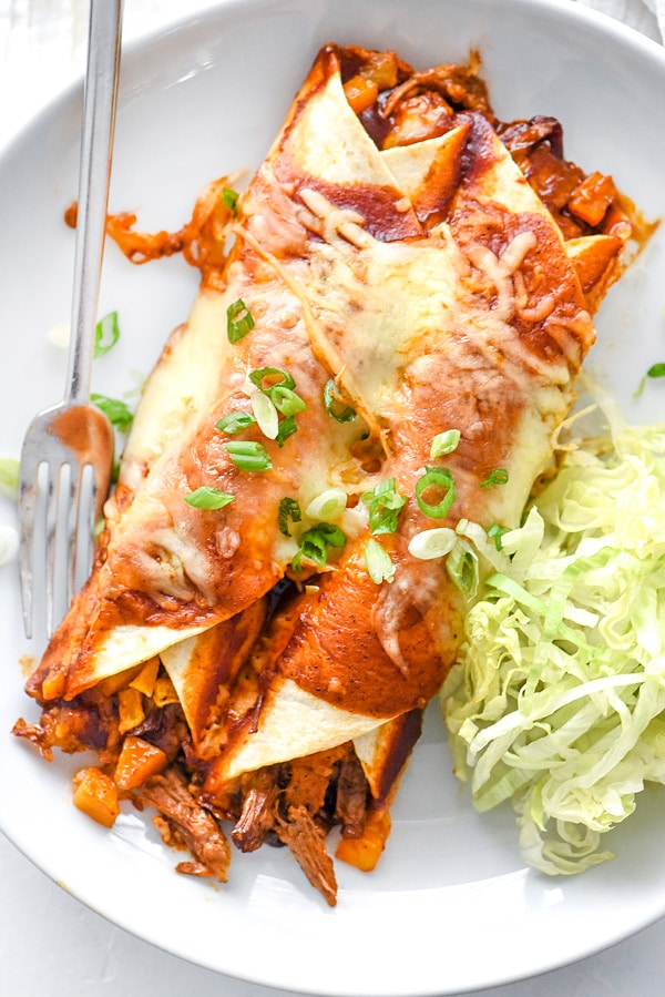 Beef Enchiladas With Butternut Squash | foodiecrush.com