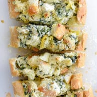 Spinach Artichoke Stuffed Bread | foodiecrush.com