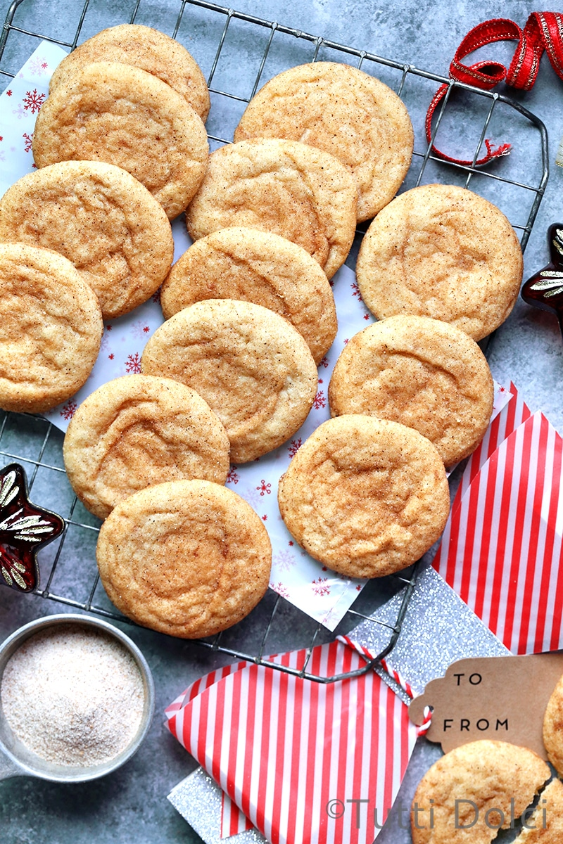 Brown Butter Chai Snickerdoodles from tutti-dolci.com on foodiecrush.com