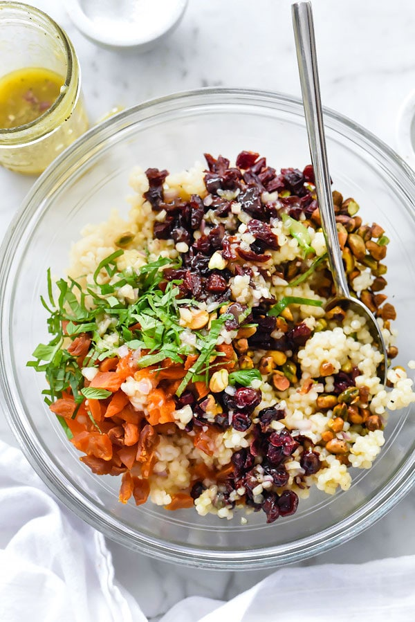 Israeli Couscous with Pistachios, Apricots and Cranberries ...
