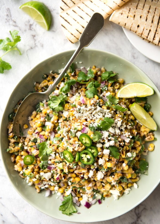 Mexican Corn Salad from recipetineats.com on foodiecrush.com