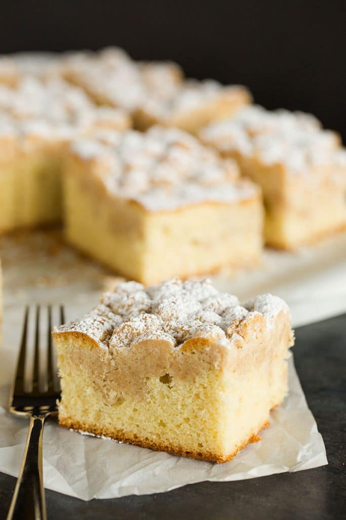 New York Style Crumb Cake by Brown Eyed Baker on foodiecrush.com