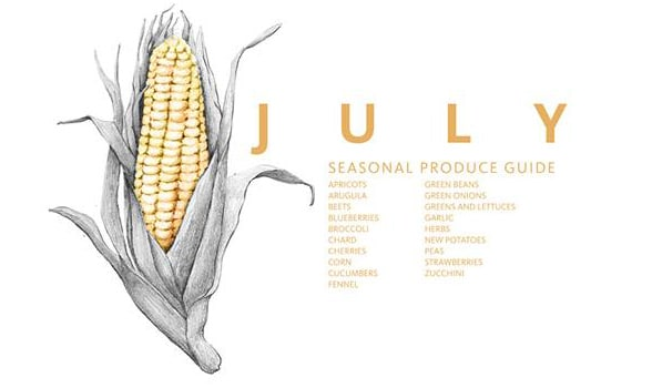 What to eat in July | eat seasonal | foodiecrush.com