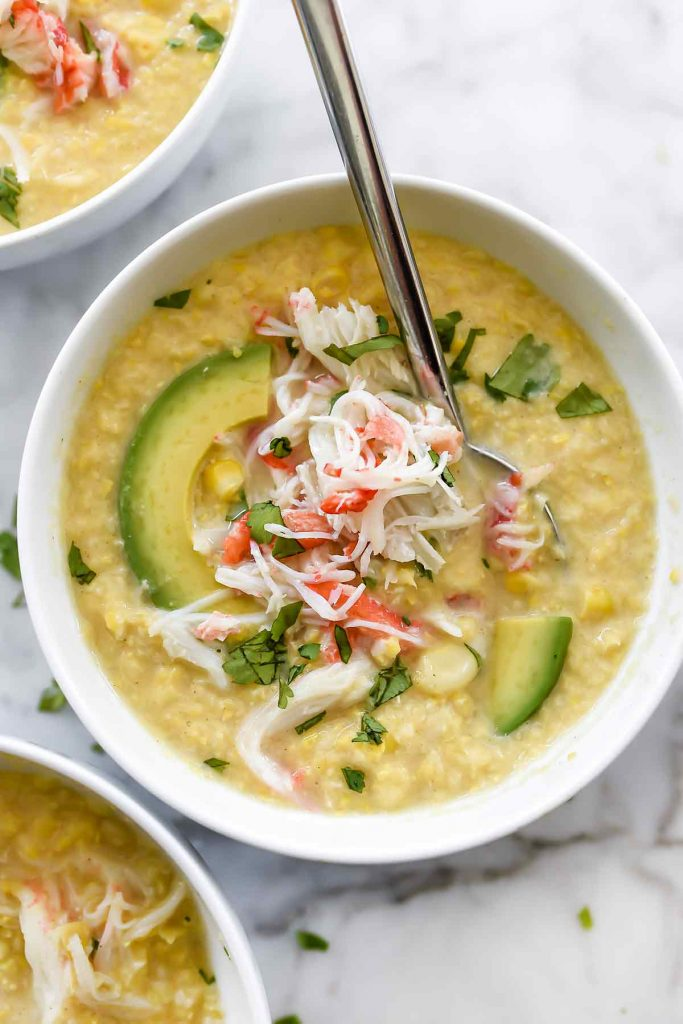 Chilled Corn and Crab Soup | foodiecrush.com