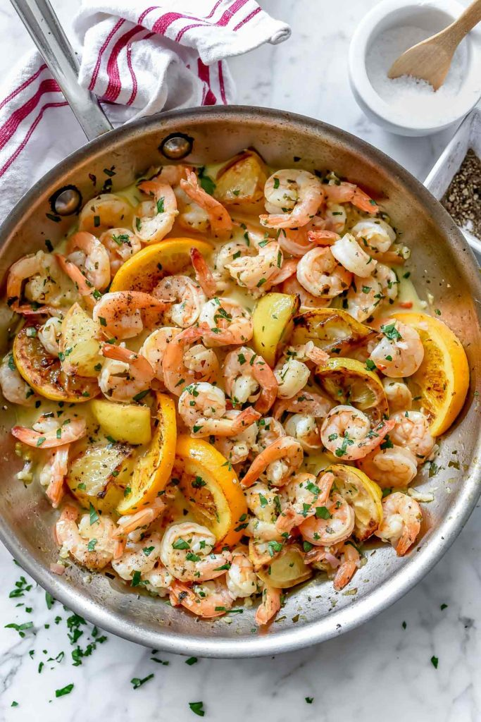 Pan-Seared Citrus Shrimp Recipe | foodiecrush.com