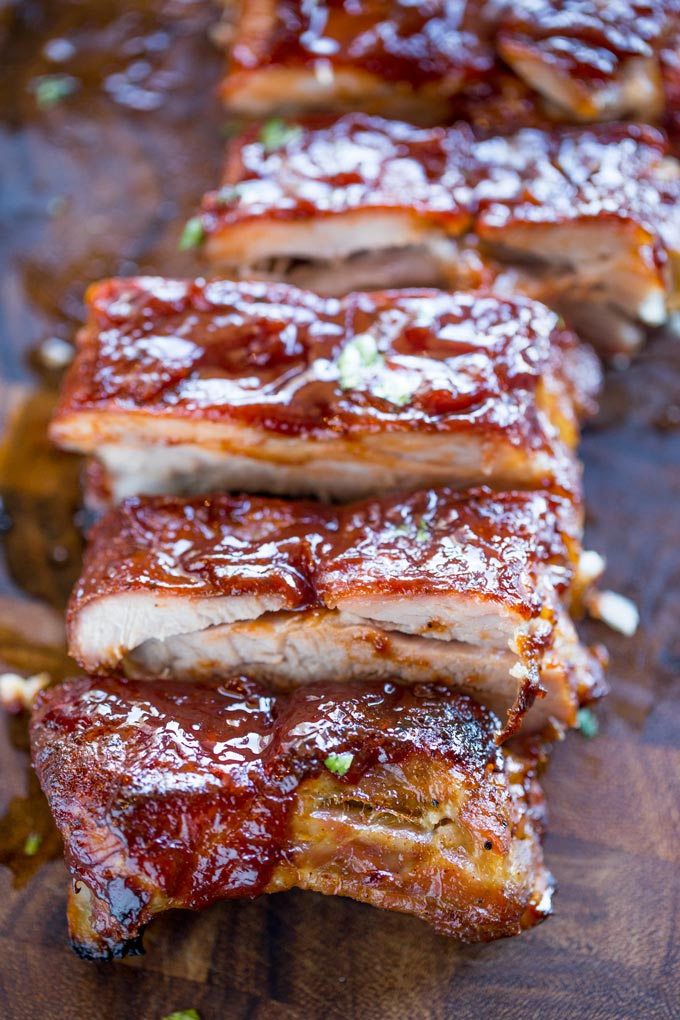 Slow Cooker Barbecue Ribs from Dinner Then Dessert on foodiecrush.com
