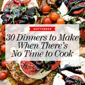 30 Dinners for Make When There's No Tim to Cook in September foodiecrush.com #dinner #recipe #quick #easy #fast #healthy #ideas #meals