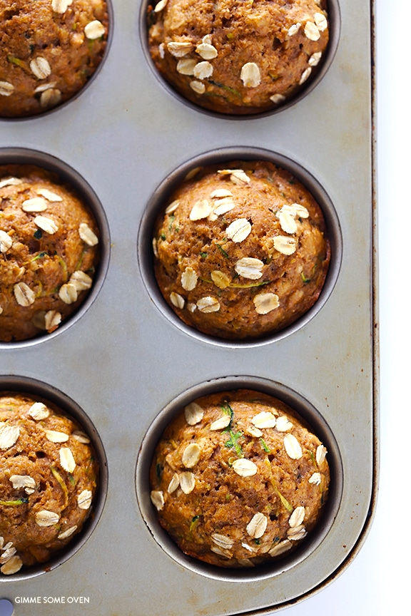 Healthy Zucchini Muffins from gimmesomeoven.com on foodiecrush.com