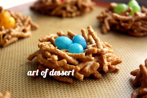 FoodieCrush Art of Dessert Birds Nest Cookies