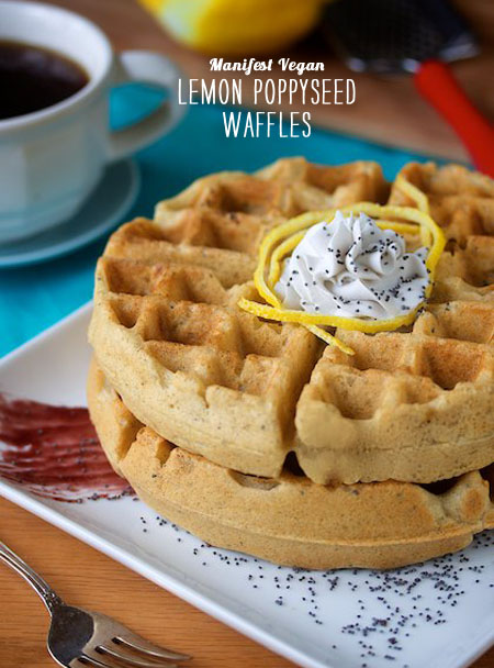 FoodieCrush magazine Lemon Poppyseed Waffle Manifest Vegan