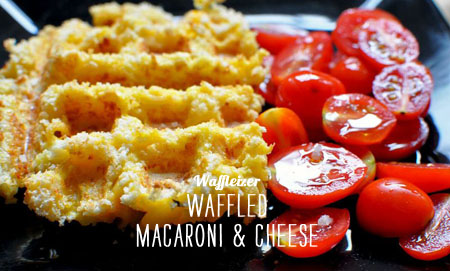 FoodieCrush Magazine Waffleizer Waffled Macaroni & Cheese