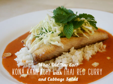 FoodieCrush Magazine What Did You Eat? Kona Kampachi with Thai Red Curry