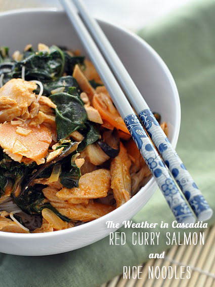 FoodieCrush Magazine The Weather in Cascadia Red Curry Salmon
