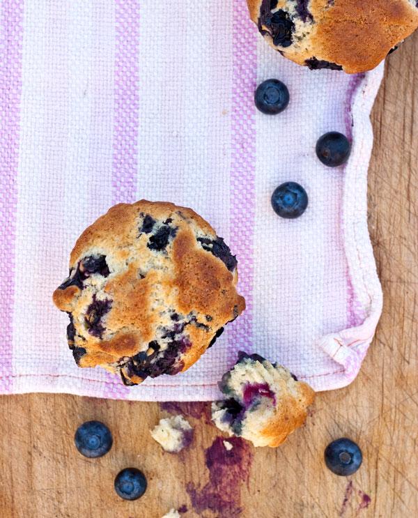 Gwyneth's Blueberry Muffins foodiecrush.com