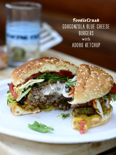 FoodieCrush Magazine Blue Cheese Burger