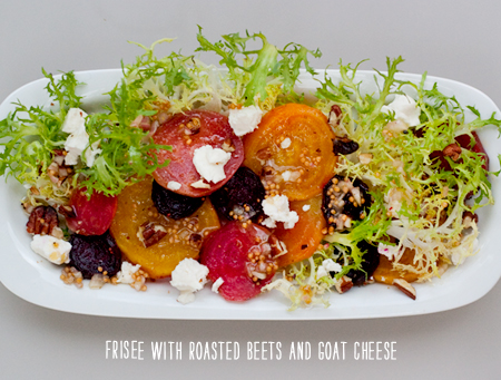 FoodieCrush Recipe Girl Frisee Salad Beets