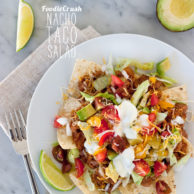 Nacho Taco Salad on foodiecrush.com