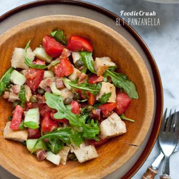 FoodieCrush Magazine BLT Panzanella Salad