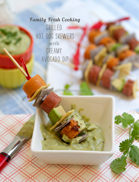 FoodieCrush Magazine Family Fresh Cooking Hot Dog Skewer