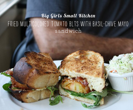 FoodieCrush magazine Big Girls Small Kitchen Fried Green Tomato Sandwich