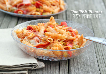 FoodieCrush Magazine One Dish Dinner Penne Pizza Bake