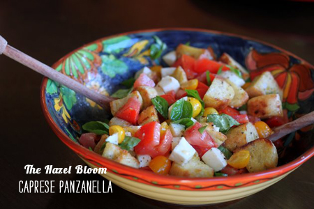 FoodieCrush Magazine The Hazel Bloom Caprese Panzanella