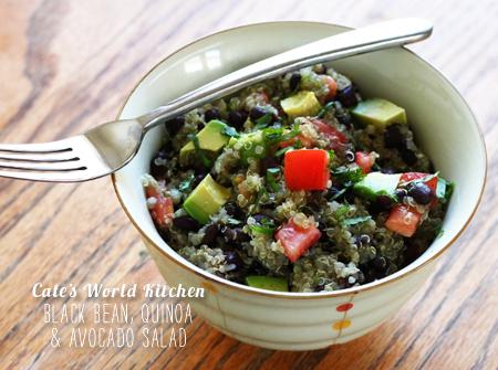 FoodieCrush Magazine Cate's World Kitchen Quinoa and Avocado Salad