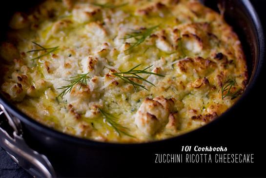 FoodieCrush Magazine 101 Cookbooks Zucchini Ricotta Cheesecake