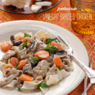 Foodiecrush Magazine Vinegar braised Chicken