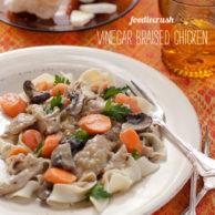 Foodiecrush Magazine Vinegar braised Chicken