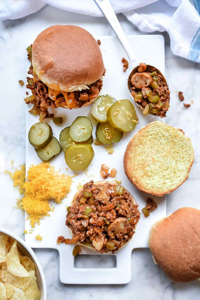 One Pot Sloppy Joes   foodiecrush.com #hamburger #sloppy #joes #sandwich