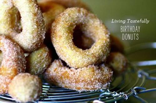 FoodieCrush Magazine Living Tastefully Birthday Donuts