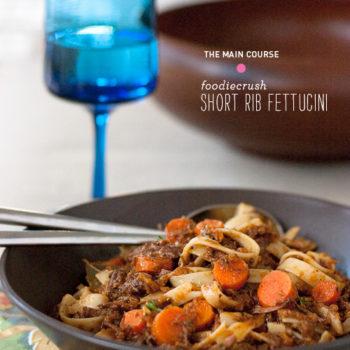 Short Rib Fettuccine || FoodieCrush