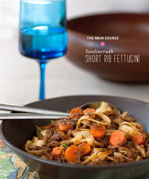 Short Rib Fettuccine || FoodieCrush
