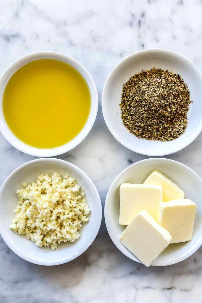 olive oil, oregano, garlic, butter for Killer Garlic Knots | foodiecrush.com