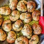 Killer Garlic Knots Recipe | foodiecrush.com #garlic #knots #recipes