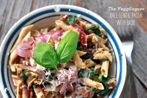 FoodieCrush Veggielogues Kale Lentil Pasta