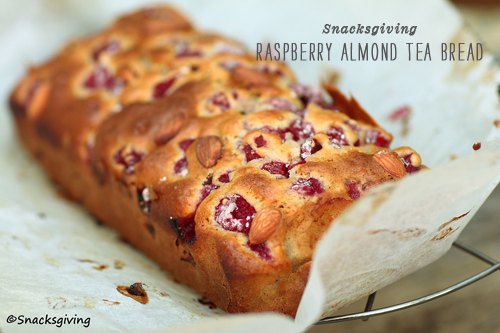 FoodieCrush Snacksgiving Raspberry Almond Bread