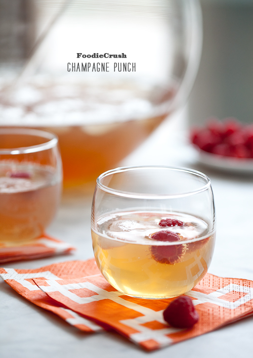Champagne Punch on foodiecrush.com