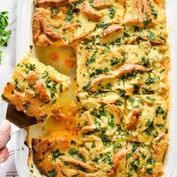 Ham and Cheese Breakfast Casserole | foodiecrush.com #breakfast #casserole #recipes #ham #cheese #holiday #christmas
