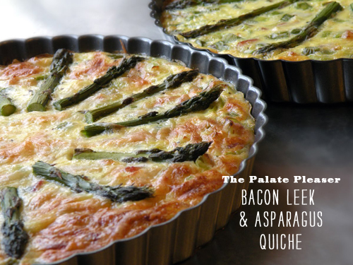 FoodieCrush The Palate Pleaser Bacon Leek Quiche