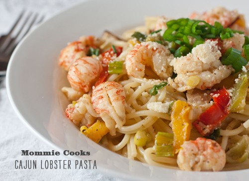 FoodieCrush Mommie Cooks Lobster Pasta