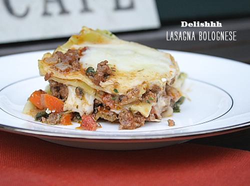 FOodieCrush Delishhh Lasagna Bolognese