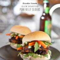 Pork Belly Sliders | Foodiecrush.com