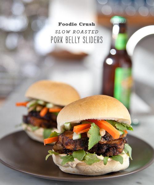 Pork Belly Sliders | Foodiecrush.com