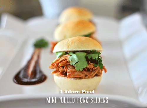 Foodie Crush I Adore Food Mini Pulled Pork Sliders