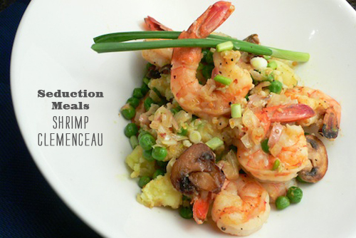 FoodieCrush Seduction meals Shrimp Clemenceau